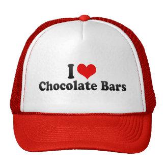 J'aime des barres de chocolat casquette de camionneur