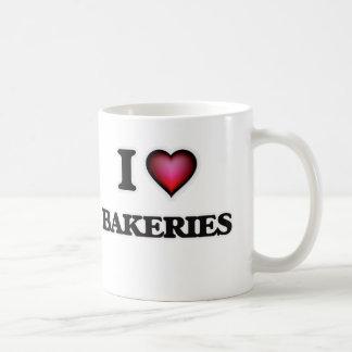 J'aime des boulangeries mug blanc