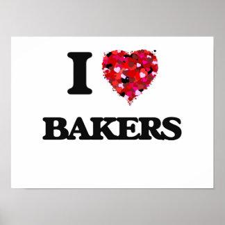 J'aime des boulangers poster