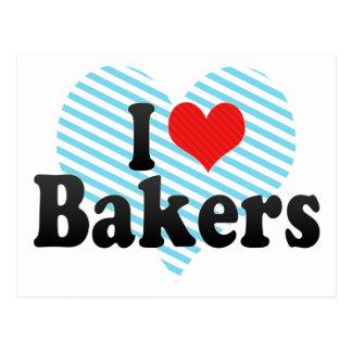 J'aime des boulangers cartes postales