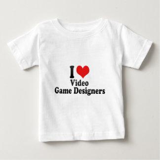 J'aime des concepteurs de jeu vidéo t-shirt pour bébé