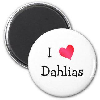 J'aime des dahlias aimant pour réfrigérateur