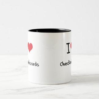 J'aime des damiers mug