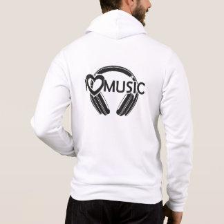 J'aime des écouteurs de musique pull à capuche