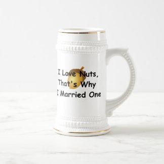 J'aime des écrous, celui est pourquoi j'ai marié chope à bière