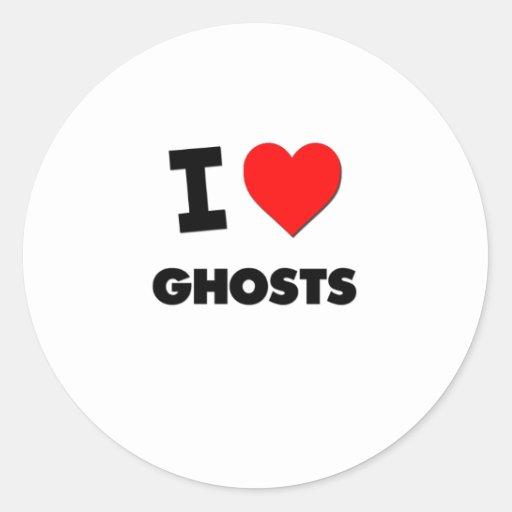 J'aime des fantômes autocollants