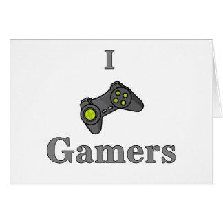 J'aime des Gamers Carte De Vœux