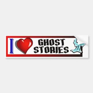 J'aime des histoires de fantôme autocollant de voiture