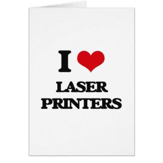 J'aime des imprimantes à laser carte de vœux