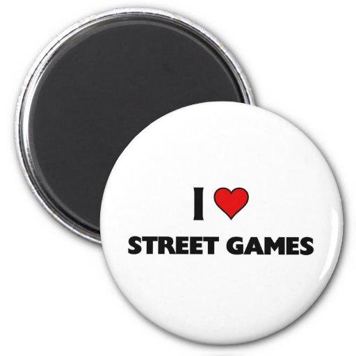 J'aime des jeux de rue magnets pour réfrigérateur