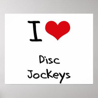 J'aime des jockeys de disque poster