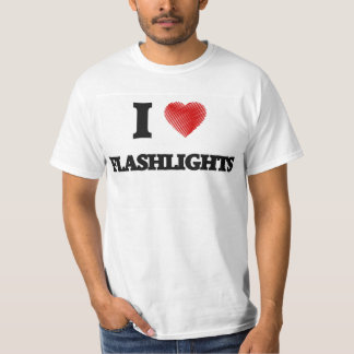 J'aime des lampes-torches tee shirts