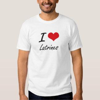 J'aime des latrines t-shirts