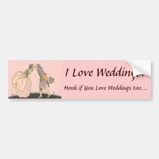 J'aime des mariages ! Adhésif pour pare-chocs Autocollant De Voiture