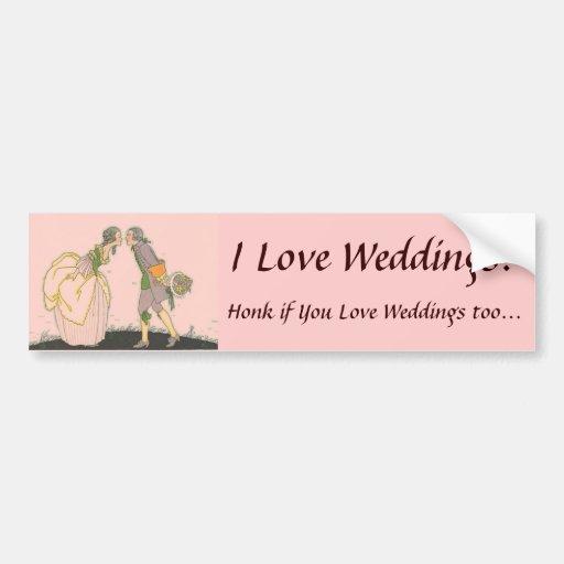 J'aime des mariages ! Adhésif pour pare-chocs Adhésifs Pour Voiture