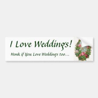 J'aime des mariages ! Adhésif pour pare-chocs Autocollant Pour Voiture