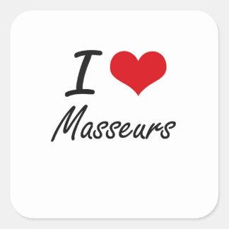 J'aime des masseurs sticker carré