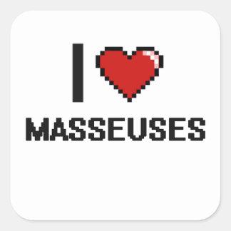 J'aime des masseuses sticker carré