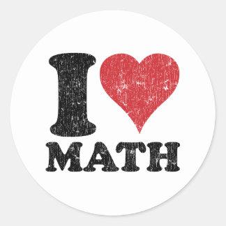 J'aime des maths sticker rond