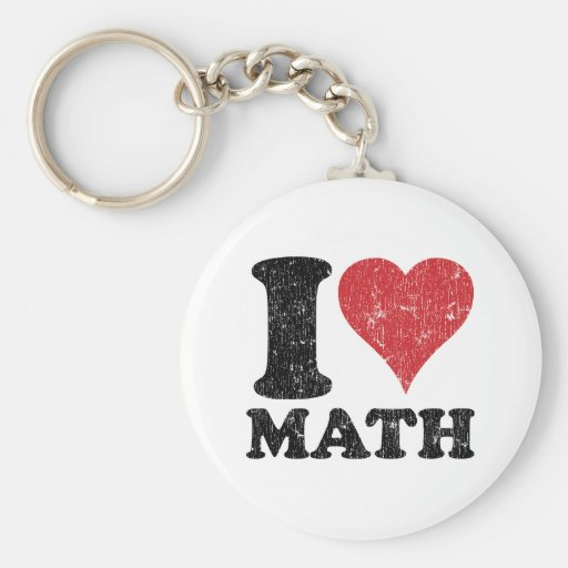 J'aime des maths porte-clef
