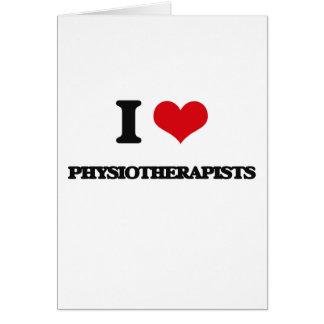 J'aime des physiothérapeutes carte de vœux