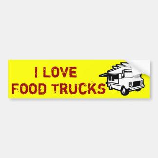 J'aime des restaurants gastronomiques sur des roue autocollant de voiture