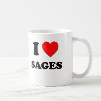 J'aime des sauges tasses à café