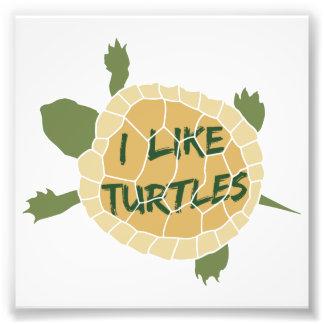 J'aime des tortues impression photo