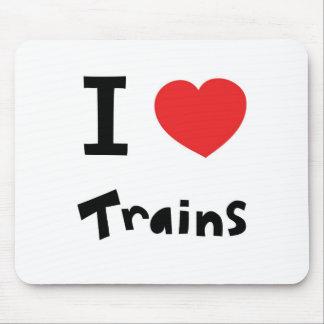 J'aime des trains tapis de souris