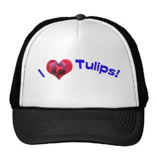 J'aime des tulipes bleues casquettes de camionneur