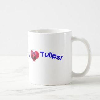 J'aime des tulipes bleues mugs à café