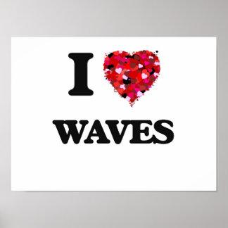 J'aime des vagues poster