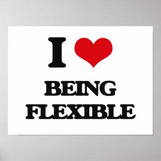 J'aime être flexible affiches