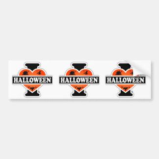J'aime Halloween #2 Autocollant De Voiture