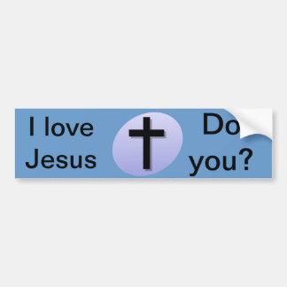 J'aime Jésus. Faites-vous ? Adhésif pour pare-choc Autocollant De Voiture