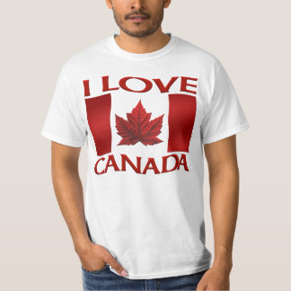J'aime la chemise du Canada de souvenir de valeur Tee Shirts
