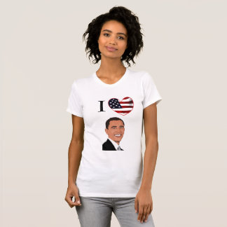 J'aime la chemise du Président Barack Obama T-shirt