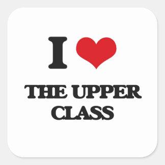 J'aime la classe aristocratique sticker carré