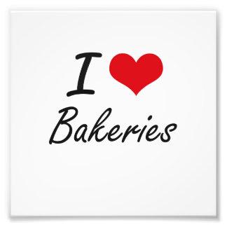 J'aime la conception artistique de boulangeries photographes