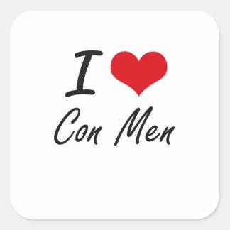J'aime la conception artistique d'hommes sticker carré