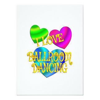 J'aime la danse de salon carton d'invitation  13,97 cm x 19,05 cm