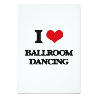 J'aime la danse de salon carton d'invitation 8,89 cm x 12,70 cm