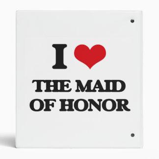 J'aime la domestique de l'honneur classeur 2,54 cm