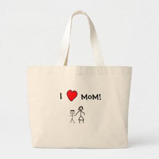 J'aime la maman ! sac en toile jumbo