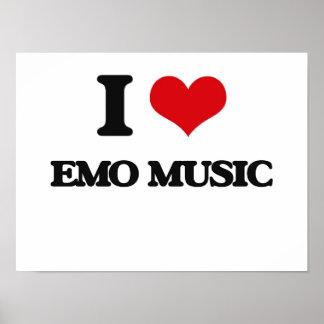 J'aime la MUSIQUE d'EMO Affiches