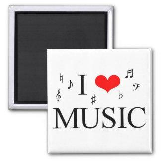 j'aime la musique magnet carré