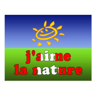 J'aime La Nature I Love Nature in Canadian Postcard