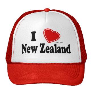 J'aime la Nouvelle Zélande Casquettes De Camionneur
