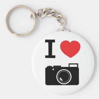 J'aime la photographie porte-clé rond