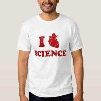 j'aime la science/anatomie de coeur de la tshirts